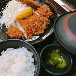 54845969 - スタミナ定食(1200円)とアジフライ(350円)