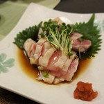 Sakesakanaomata - 赤鶏のたたき