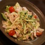 やきとりセンター - 豆腐と蒸し鶏のサラダ(380円+税)2016年8月