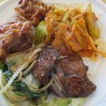 空桜 - 唐揚げ、レバニラ炒め、豚キムチ炒め