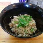 中華そば de 小松 - 鴨出汁の炊き込みご飯
