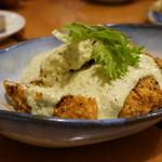 アヒル食堂 - チキン唐揚げ黒胡椒風味タルタルソース