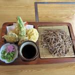 蕎麦処 竹もり - 天ざるそば