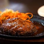 レストラン サム - 肉々しいハンバーグ。チョップドステーキと言うそうです。