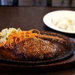 レストラン サム - 特製ハンバーグステーキ。