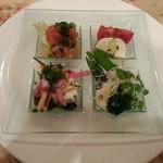 コロンブス - Bコースコロンブス特製アンティパスト冷たい前菜の盛り合わせ。