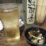 54857342 - 「ハイボール」(450円)「先付け豆腐」(?円)(2016年8月)