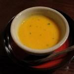 蕎麦 惠土 - バターナッツかぼちゃの冷製和風スープ