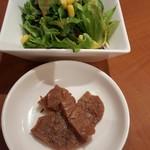 54860396 - 大豆のお肉、サラダ
