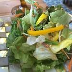 カフェ デ アゲンダ - たっぷりの野菜サラダ