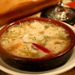 サンデイオフ - 小エビのガーリックオイル煮