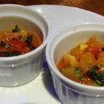 54865641 - 前菜 魚介と夏野菜のトマトラグー