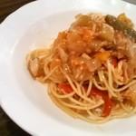 一汁三菜イタリア~の - ツナと夏野菜の冷製トマトソース