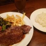 TAPEO - 肉ランチ980円(サーロイン150g・スープ・ライス・13時以降ドリンク付)