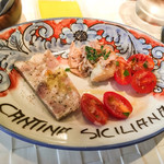 カンティーナ シチリアーナ - 前菜3種盛り合わせ