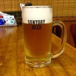 だるま亭 - 生ビール 中600 円  大  750円