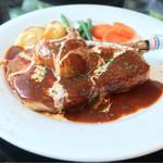 レストランブライト - 料理写真:(2016年8月)骨付き豚ロースのソテー洋梨添え!