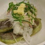さいとう - めし処 さいとう @板橋本町 冷やし揚げナス定食の薬味たっぷりんこの主菜