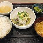 さいとう - めし処 さいとう @板橋本町 冷やし揚げなす定食 税込680円