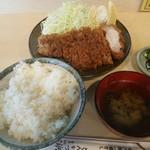 天元豚とんかつ浜 - ロースカツ定食