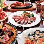 パエジャ パエジャ - 料理写真:5名のパーティー料理の例。 スペインを楽しむならタパスを楽しまなきゃ! ワインやビールが美味しい内容♪