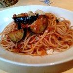 イタリアン バイキング モルトモルト - 『ナスの辛口ミートソース』そんなに辛くないから食べやすかったよ♪