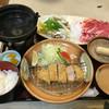 風林火山 - 料理写真:ヒレカツとしゃぶしゃぶセット定食