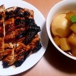 味噌平醸造 - 調味の素を使って相方さんが煮物と照り焼きを作ってくださいました