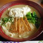 豆腐厨房  - 冷やし豆乳胡麻うどん(大)
