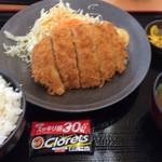 大谷パーキングエリア(上り線)スナックコーナー - トンカツ定食 730円