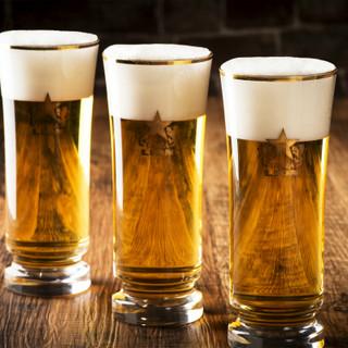 ★金口で生ビール★種類豊富にあるビールでご堪能ください!