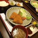 レスト喫茶榎 - アジフライ定食