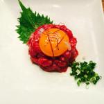 香洛園 - 料理写真:国産牛 ユッケ