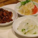 シャンウェイ - 本日の冷菜三種盛り合わせ