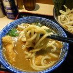 らー麺土俵 鶴嶺峰 - 麺は超極太の『くり山』製