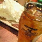 鷹番ゴールデン酒場 - お通しのキャベツ