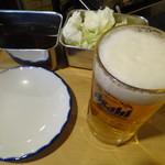 54891302 - 生ビールとソース
