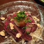 大阪産(もん)料理 空 - ウメビーフのたたき