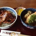 レストラン むーんらいと - この豚丼と天そばのセット1350円