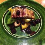 54896788 - 鰻と野菜のブルーベリーソース。意外な程にブルーベリーが合う。