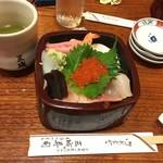 三城寿司 - ちらし寿司の上、1800円