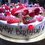 549230 - 特注誕生日ケーキ 側面に文字入りです