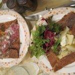 クレープリー・アルション - コンプレ(?)と四種のチーズとサワークリームのガレット