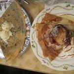 クレープリー・アルション - セザムとアーモンドクリーム詰めた焼き林檎のクレープ