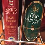 パニーノ・ジュスト - バルサミコ酢とオリーブオイル。