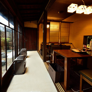 京町屋をイメージした空間は、お集まりや観光のお客様にも最適