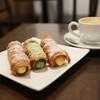 コルネ専門店 コルネルコ - 料理写真:カスタード&かぶせ茶(緑茶)&パッション・ココ☆