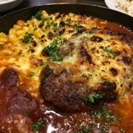 オリオリ - 週末ハンバーグ+チーズ ¥980+¥150
