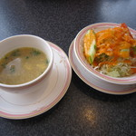 New Delhi Spice - ランチのスープ&サラダ♪