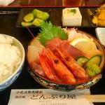 どんぶり屋 - 料理写真:刺身盛り定食(1,680円+TAX)